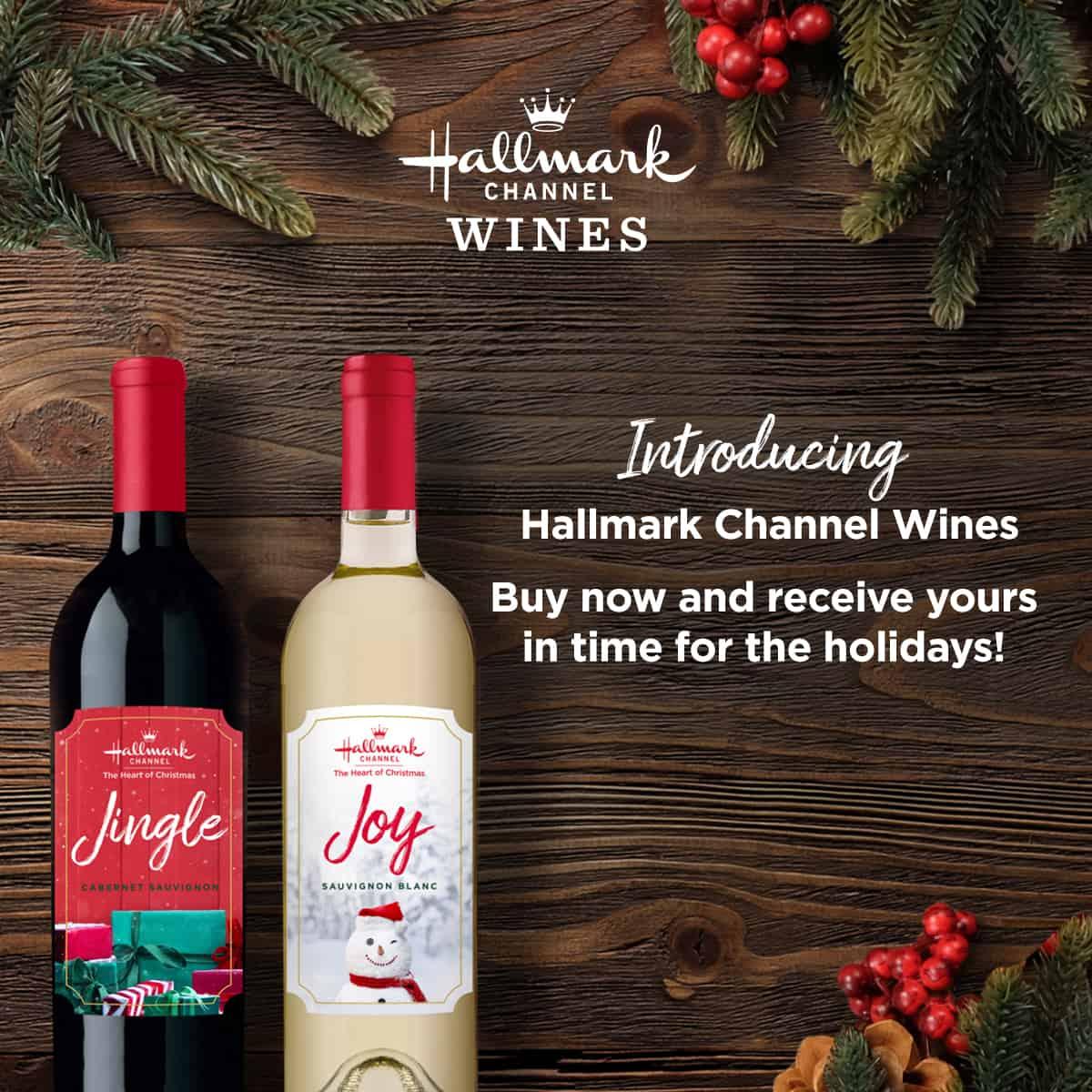 hallmark wine promotional graphic