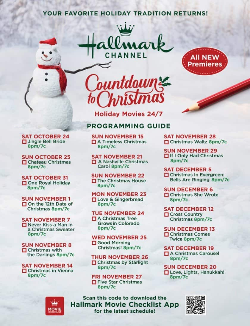 Countdown to Christmas Hallmark Channel