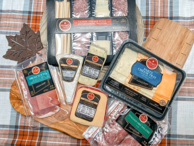 various primo taglio meat and cheeses