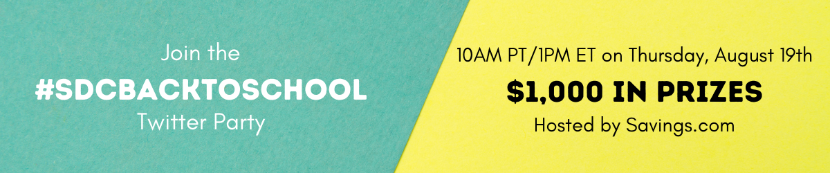 back to school twitter party banner